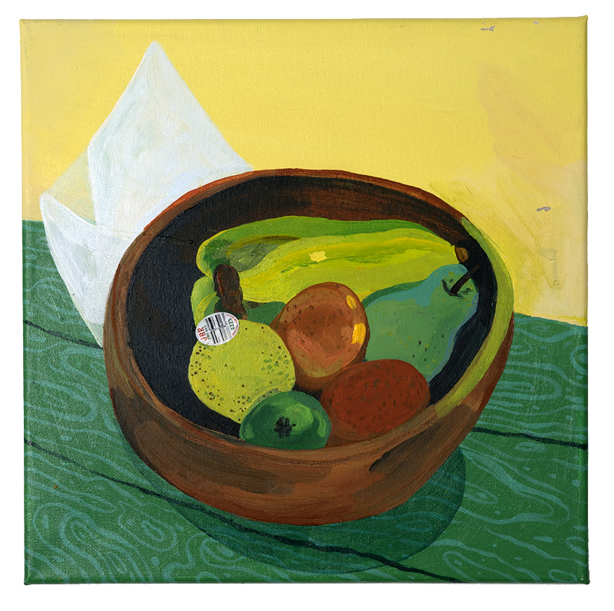 Kelsey's Fruit Bowl Acrylic on canvas 12 x 12 inches 2017