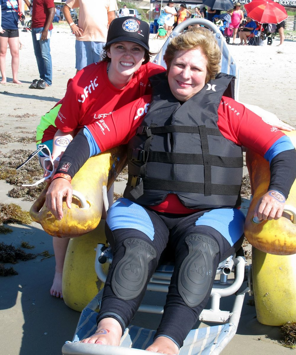 texas surfer in beach wheelchair red team gayla kolle goff.jpg