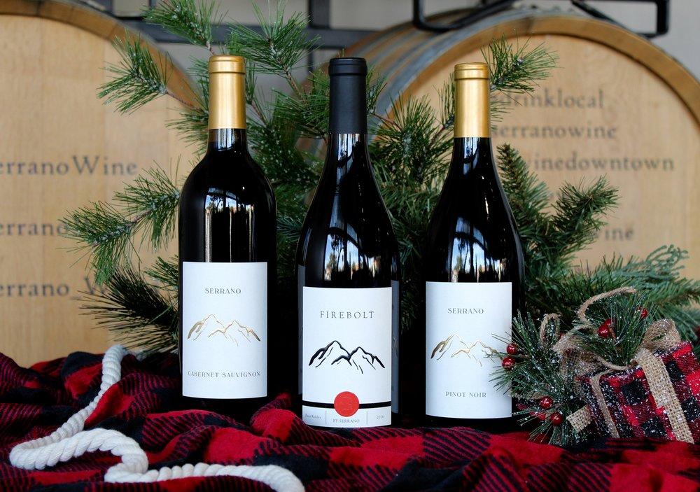 BIG COZY REDS - $1651 Bottle of 2013 Cabernet Sauvignon1 Bottle of 2014 Pinot Noir1 Bottle of 2016 Firebolt1 Logo Corkscrew3-Bottle Collector's Wooden Box