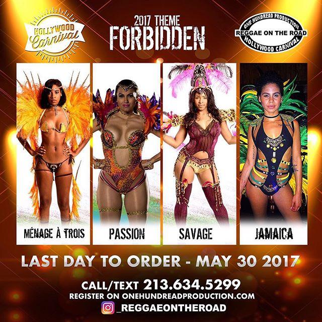 ORDER NOW!!!!!! WE BLAZING!!!!!!🔥🔥🔥 Don't wait, This Will Be Great! 🚨 *CUT OFF DATE APPROACHING* Sections Will Sell Out!!!!!!! #ReggaeOnTheRoad #Dancehall #Soca #WeJammin #Jamaica #PlayMas #Belizean #HollywoodCarnival #Trini #Bim #Guyanese #RoadReady #HollywoodBlvd #LaCarnival #HollywoodCarnival2017 #LosAngeles #Brazilian #JamaicaCarnival #BigBadTruck 🇯🇲 #Gm #Tgif model: @_littlegaby @dkaylynnise @raww.duh @carolyndeskin @onemilindasmith @puremas @djcourtesy @theelitecarnival @thepartyminister @raeraejuicysuga @evertonedeedennis @jay5flow @_superexoticaa_ @dancehallclass @kedzfabulous @tasteofthecaribbeanla @1hundread_production @deejayhypemusic @sarasavage_ @msdestiny1love @isanig @codelank
