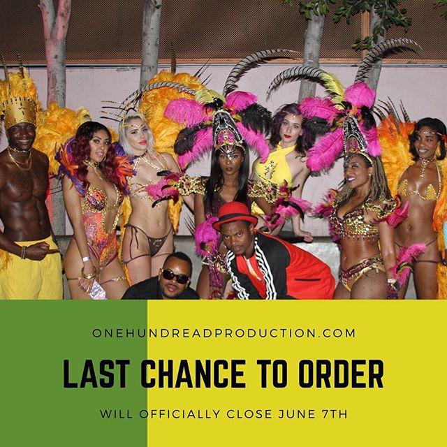 LAST CHANCE TO ORDER - EXTENTION #ReggaeOnTheRoad #Dancehall #Soca #WeJammin #Jamaica #PlayMas #Belizean #HollywoodCarnival #Trini #Bim #Guyanese #RoadReady #HollywoodBlvd #LaCarnival #HollywoodCarnival2017 #LosAngeles #Brazilian #JamaicaCarnival #BigBadTruck 🇯🇲 #Gm #Tgif model: @_littlegaby @dkaylynnise @raww.duh @carolyndeskin @onemilindasmith @puremas @djcourtesy @theelitecarnival @thepartyminister @raeraejuicysuga @evertonedeedennis @jay5flow @_superexoticaa_ @dancehallclass @kedzfabulous @tasteofthecaribbeanla @1hundread_production @deejayhypemusic @sarasavage_ @msdestiny1love @isanig @codelank