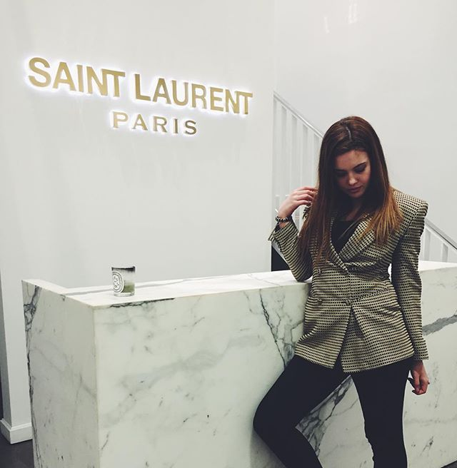 Color coordinating w/ @ysl HQ