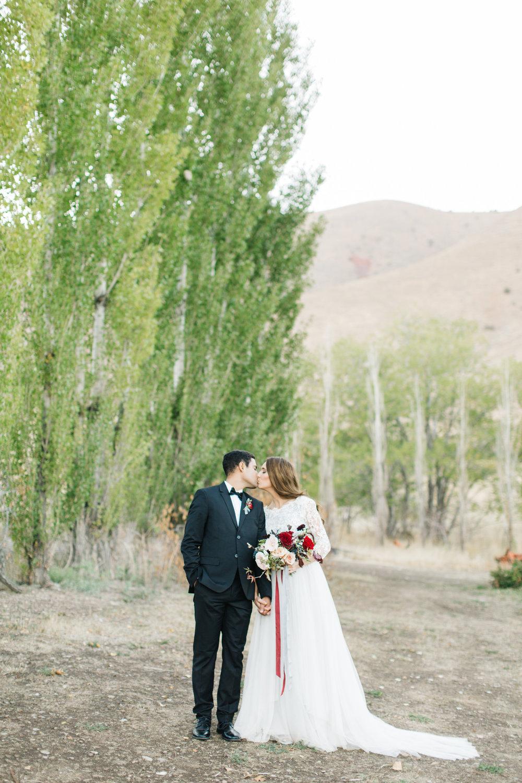 Burgundy Navy Blush Bridal Bouquet Couple by Mila Adams Kentucky Utah Destination Wedding Florist