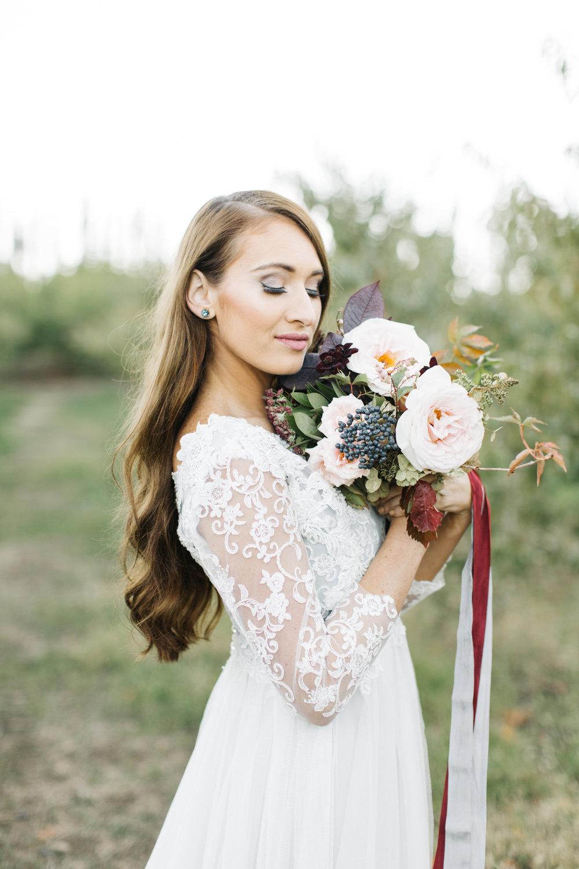 Blush Burgundy Navy Bouquet by Mila Adams Kentucky Utah Destination Wedding Florist