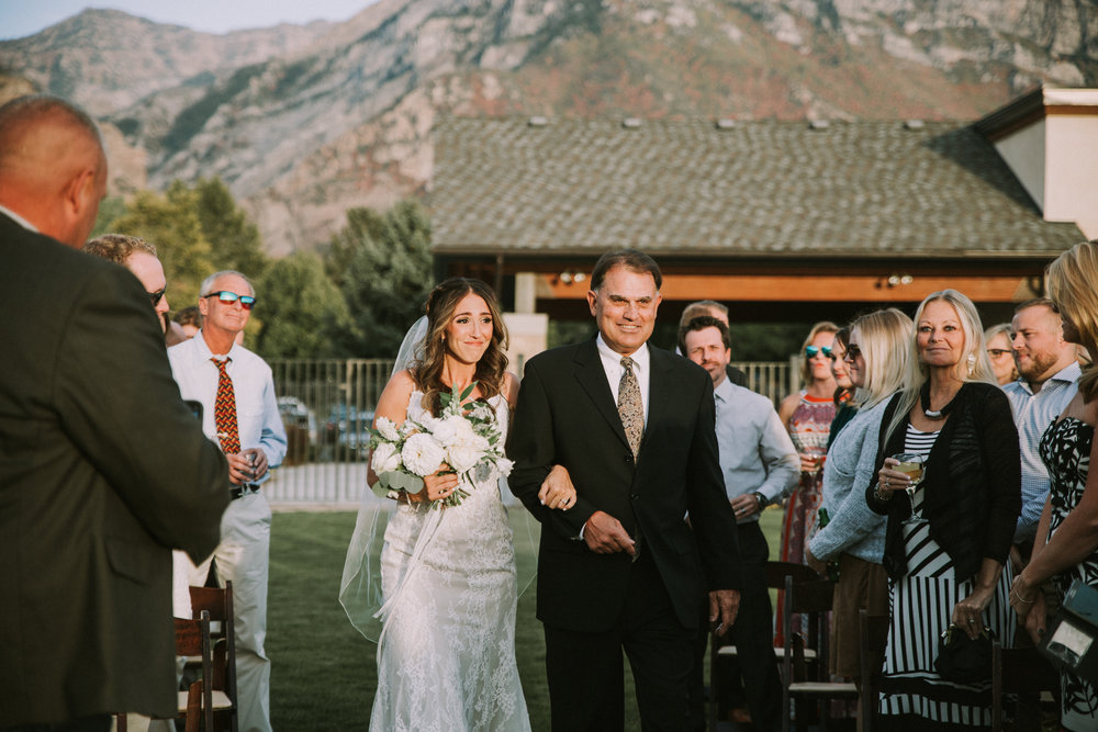 Mila Adams Kentucky Utah Destination Wedding Florist White Bridal Bouquet Riverside Country Club