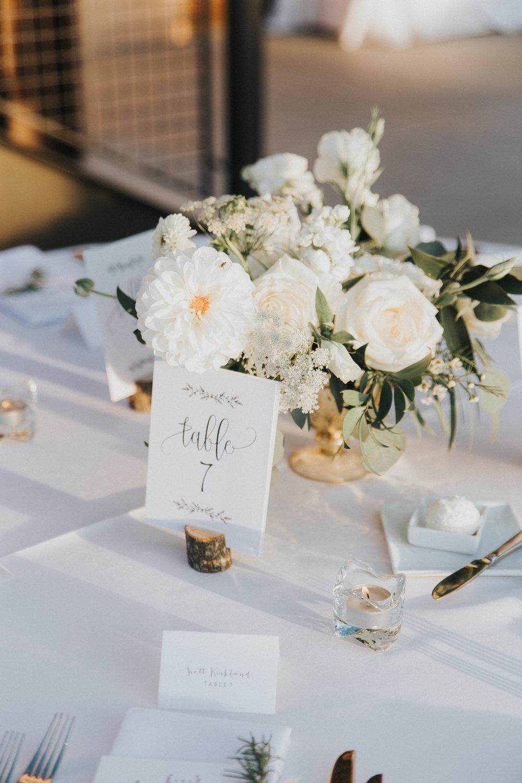 Mila Adams Kentucky Utah Destination Wedding Florist  White Centerpiece