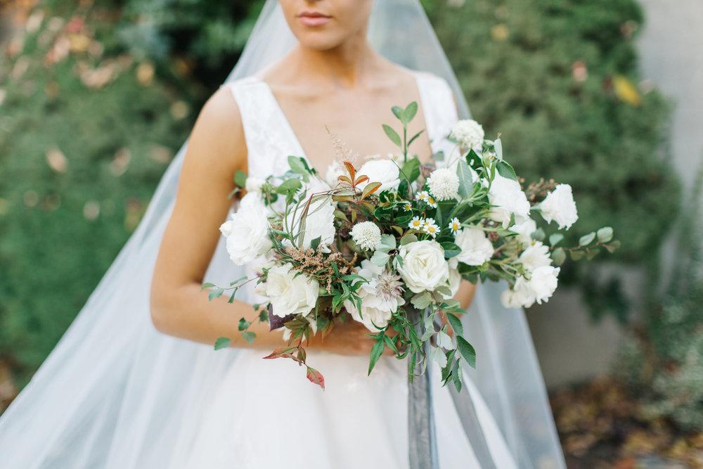 Mila Adams - Kentucky Utah Wedding Florist - White Garden Style Bouquet