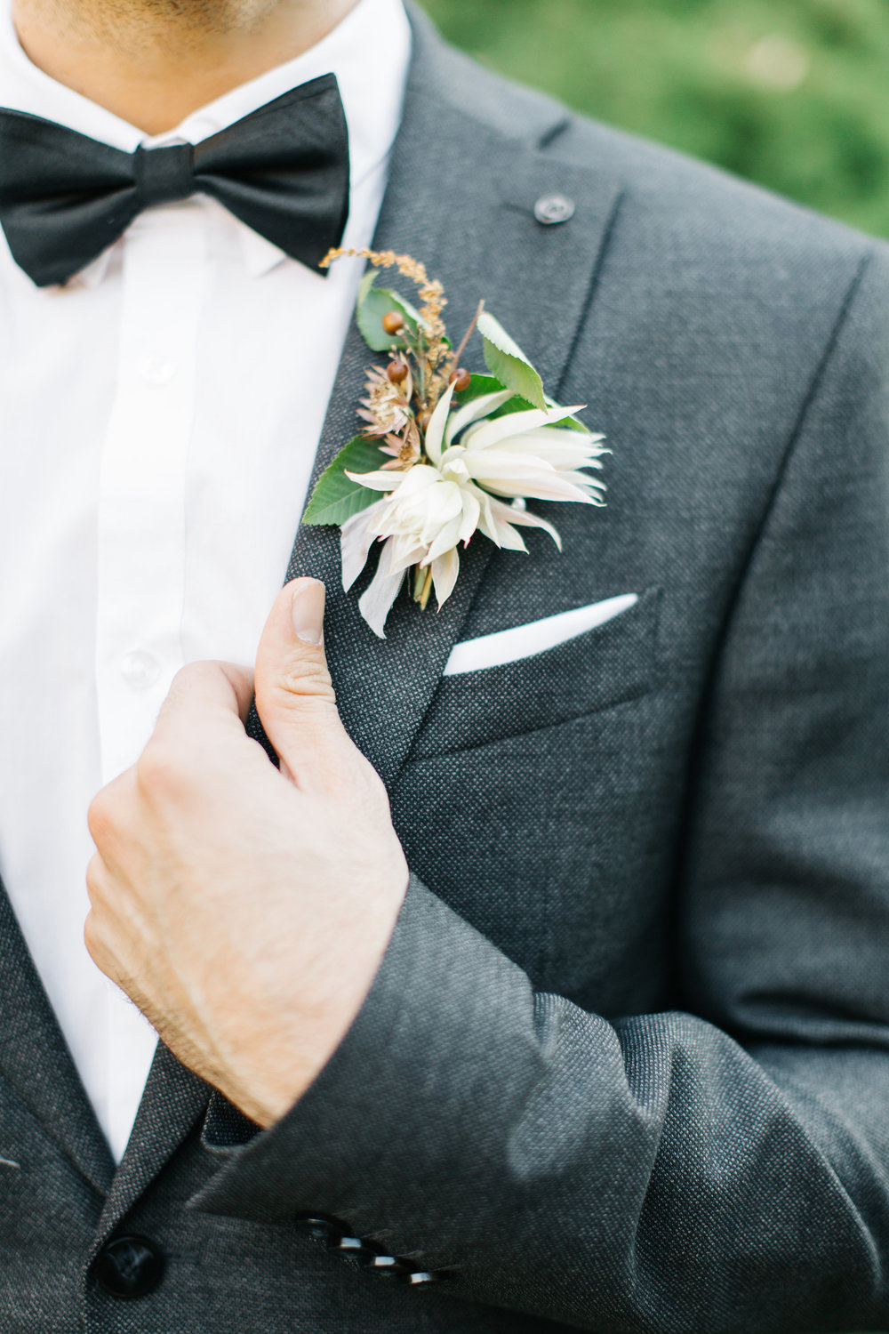 Mila Adams - Kentucky Utah Wedding Florist  - Grooms White Boutonniere