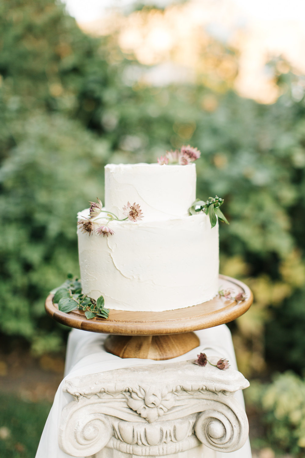 Mila Adams - Kentucky Utah Wedding Florist - White Cake Flowers Purple