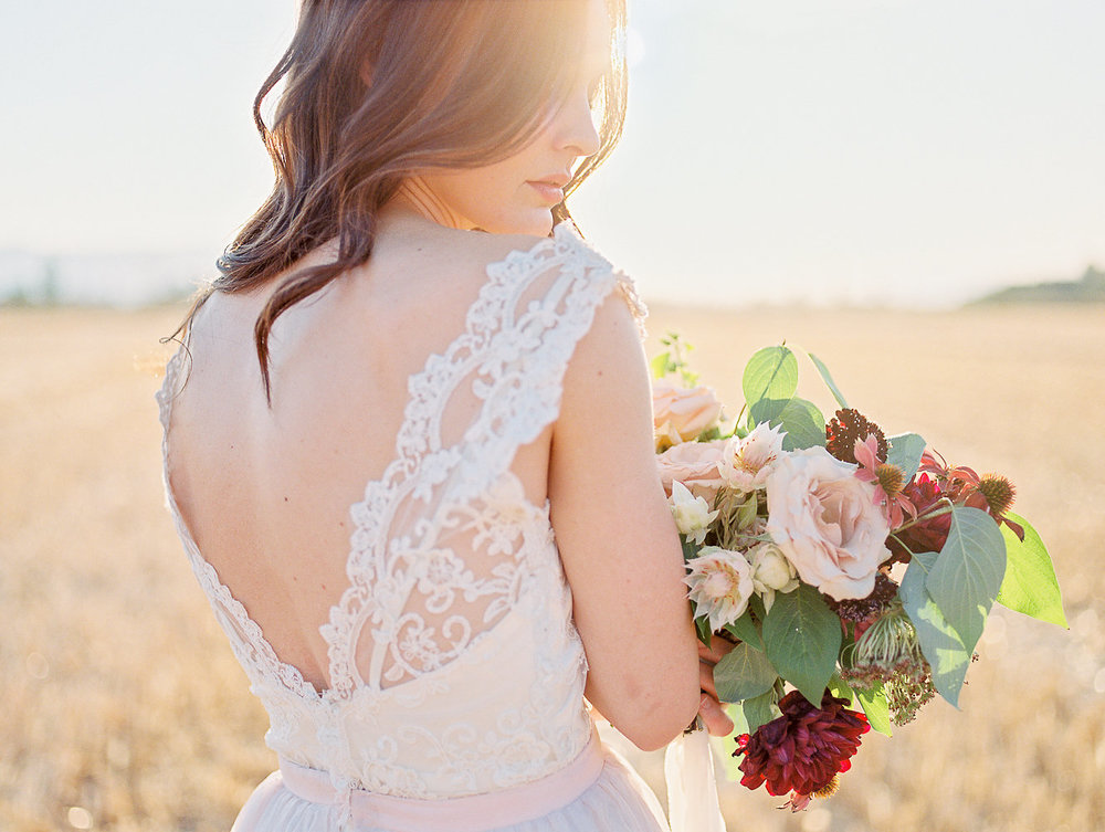 Mila Adams - Kentucky Florist Utah Destination Florist -  Burgundy Blush Bridal Bouquet