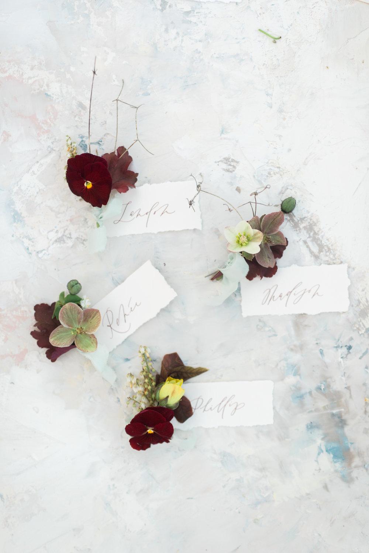 Mila Adams Burgundy Boutonniere Kentucky Florist