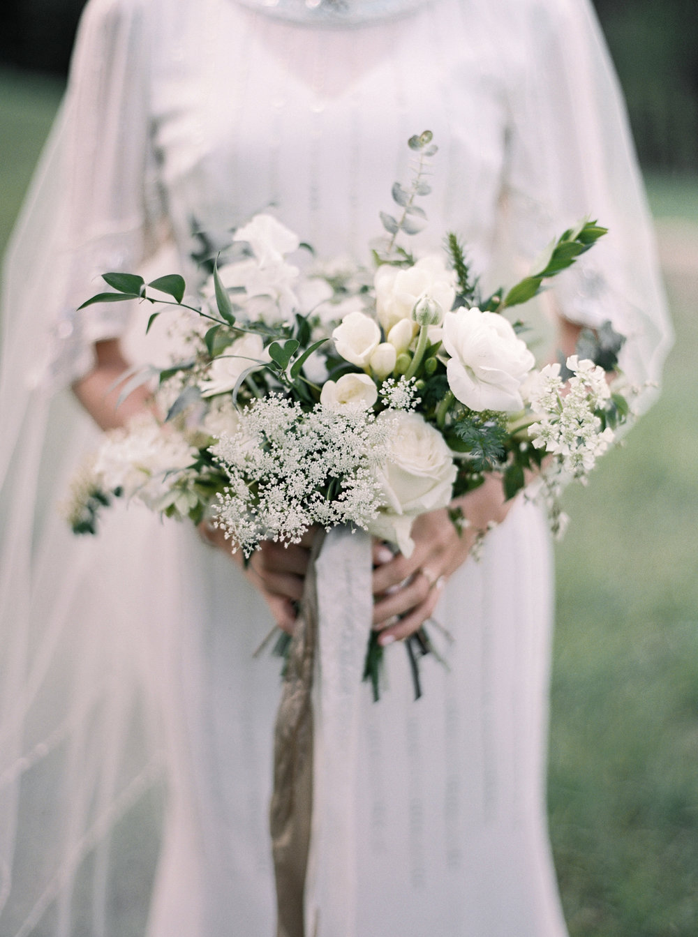 Mila Adams Sundance Utah Wedding Kentucky Louisville Lexington Florist White Garden Style Bohemian Bridal Bouquet