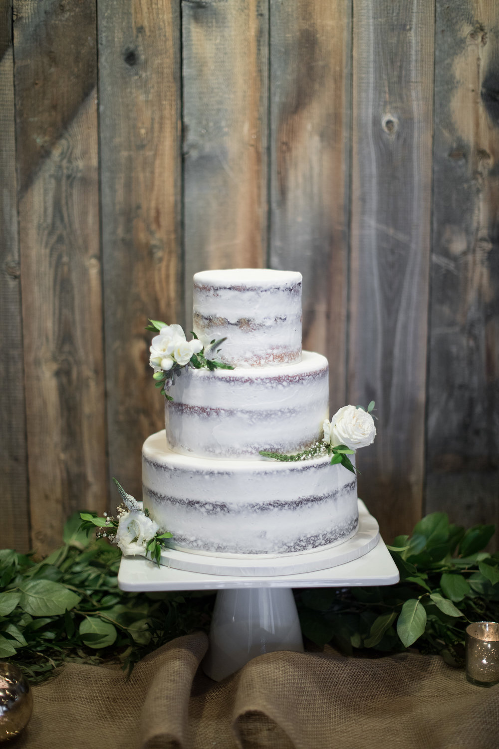 Mila Adams Louisville Lexington Kentucky Wedding Florist White Wedding Cake at Sundance Utah