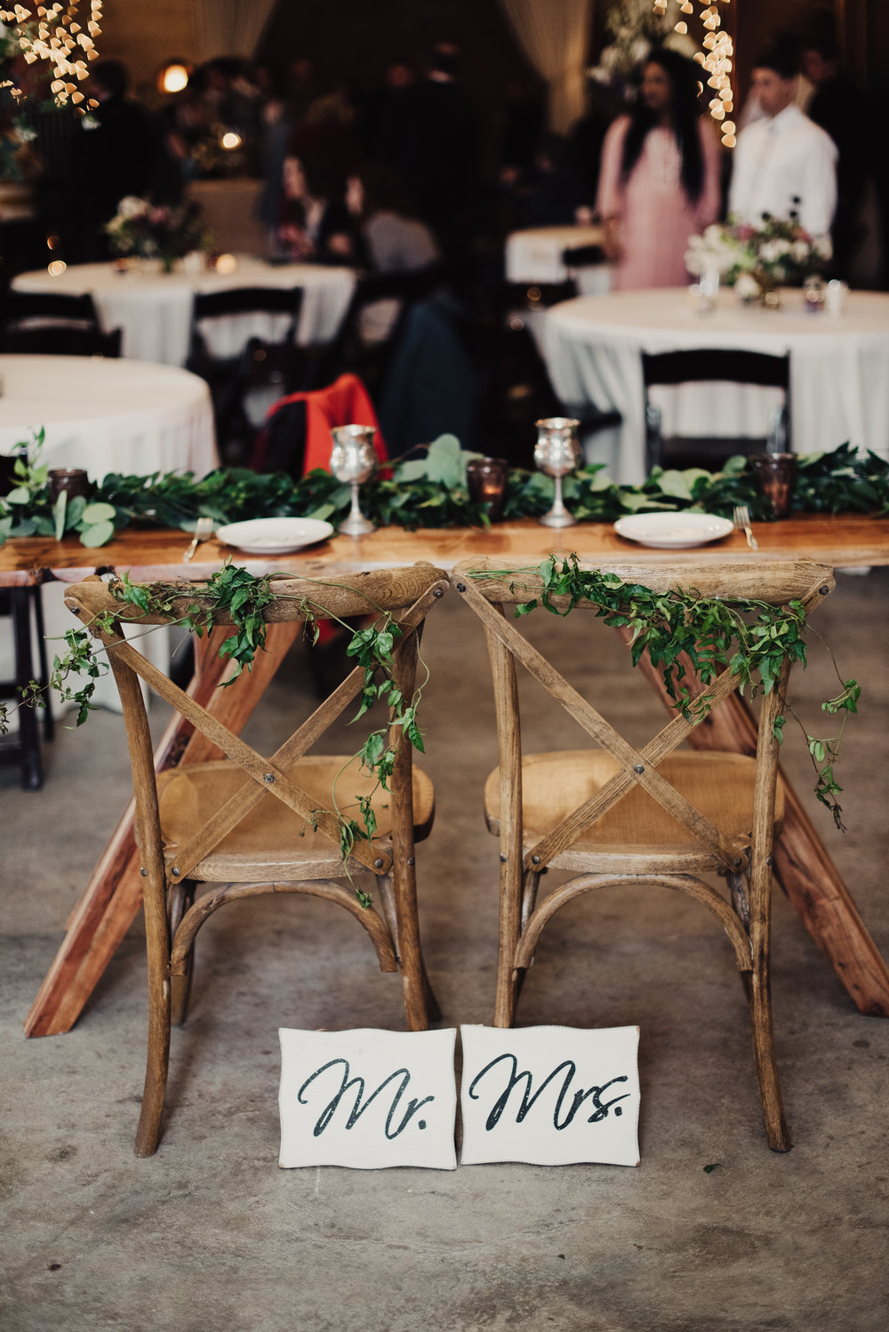 Mila Adams Lexington Kentucky Wedding Florist Chair Greenery Sweetheart Table