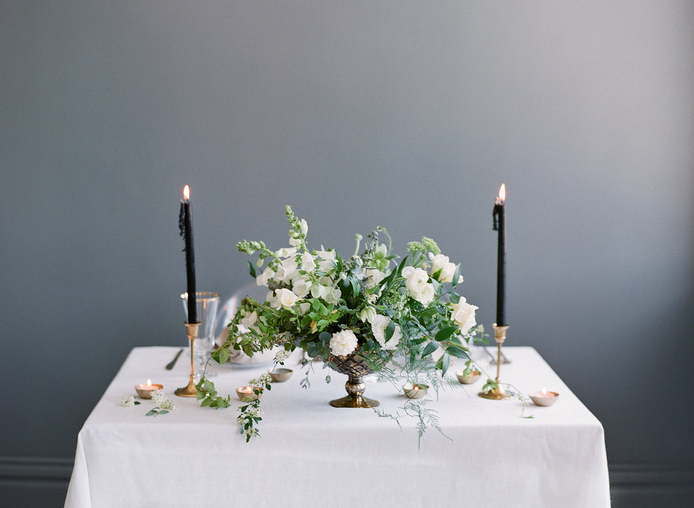 White Flower Centerpiece  Louisville Lexington Kentucky Wedding Florist