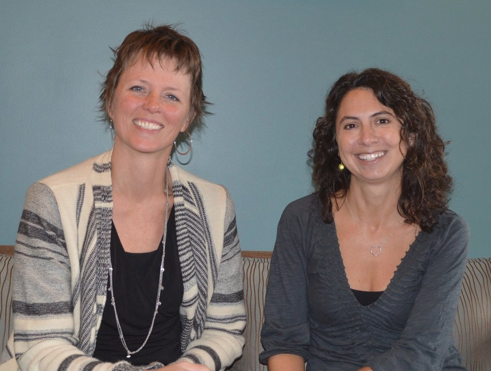 Center for Birth Midwives - Wendy Gordon, CPM, LM, MPH (left) and Tina Tsiakalis, CPM, LM are the 'resident' midwives at Center for Birth. Read their biographical statements below.