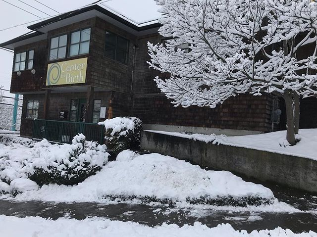 Can't wait to see the babies who babies decide to make their entrance at Center for Birth this week! Also, due to weather and road conditions, the TOUR scheduled for Monday, February 11 will be CANCELED. We look forward to meeting you at a future tour. Registration information can be found on our website. Stay safe and warm!! #birthcenter #midwife #snowday