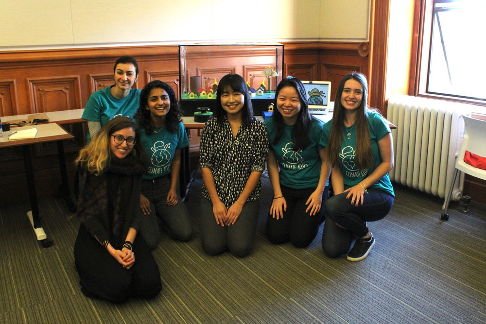 Our team with our professor, Kimiko Ryokai, and PhD student Noura Howell -
