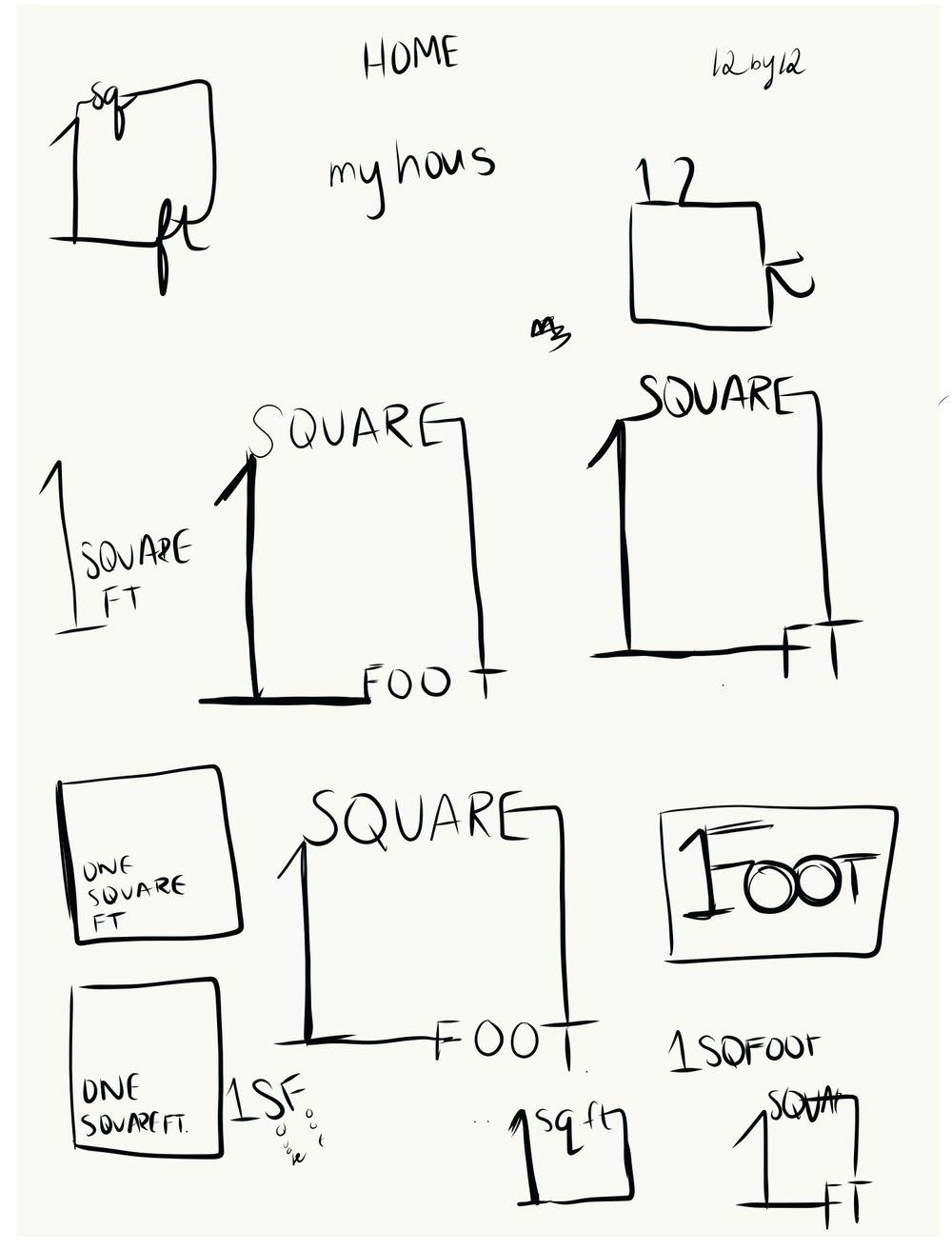One Square Ft
