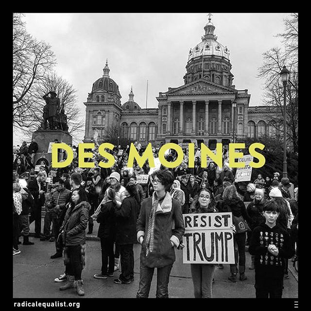 """""""This is what democracy looks like."""" A chant at the #WomansMarch, but also an accurate portrayal of what took place in #Iowa this weekend.  In November, #Trump won the Hawkeye State by 10 percentage points, a decisive victory. Even so, as many as 26,000 people showed up to advocate for the issues they feel the administration must take seriously: LGBT rights, gender equality, and rights for Native Americans, among them.  The marchers are clearly the minority in their home state but that doesn't make them powerless. In fact, the science of minority influence tells us that if these #citizens—and all of us, really—continue to confront the majority, consensus can be flipped.  That's what happened during the Women's Suffrage Movement and again with Civil Rights in the sixties. A small group of people tirelessly working to defend and promote their position can stimulate divergent thinking... can lead to innovation... can make us a better country.  So let's keep at it, #Americans. And now that the marches are over, we can do that by getting into government. Click on the link in bio  for more information and to apply for a position in the Trump administration."""