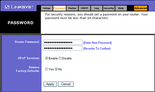 Change your password for safety. Heck, go ahead and turn off UPnP if your screen looks like this.