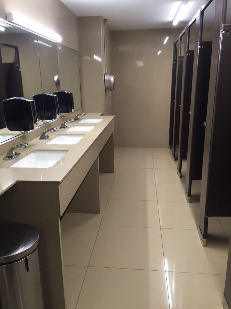 Newly renovated Brennan Lounge washrooms, another initiative executed directly by the Student Improvement Fund  (USMC).