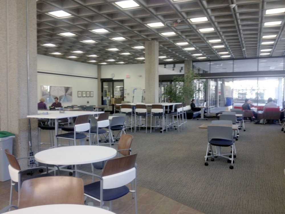 New Kelly Cafe table and chairs, another initiative executed directly by the Student Improvement Fund  (USMC).
