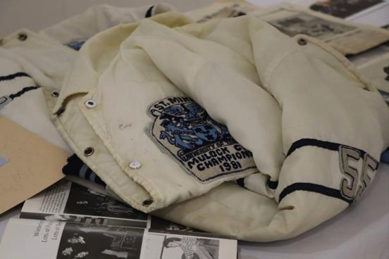 A 1981 USMC Mulock Cup champion's jacket  (Leslie Belzak / USMC) .