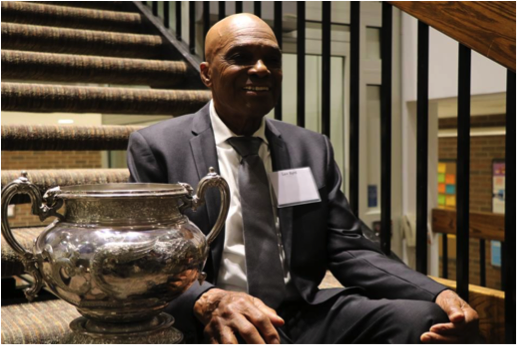 Eight-time Mulock Cup winner Lex Byrd, USMC intramural football team Head Coach from 1973 to 1993 ( Leslie Belzak / USMC) .