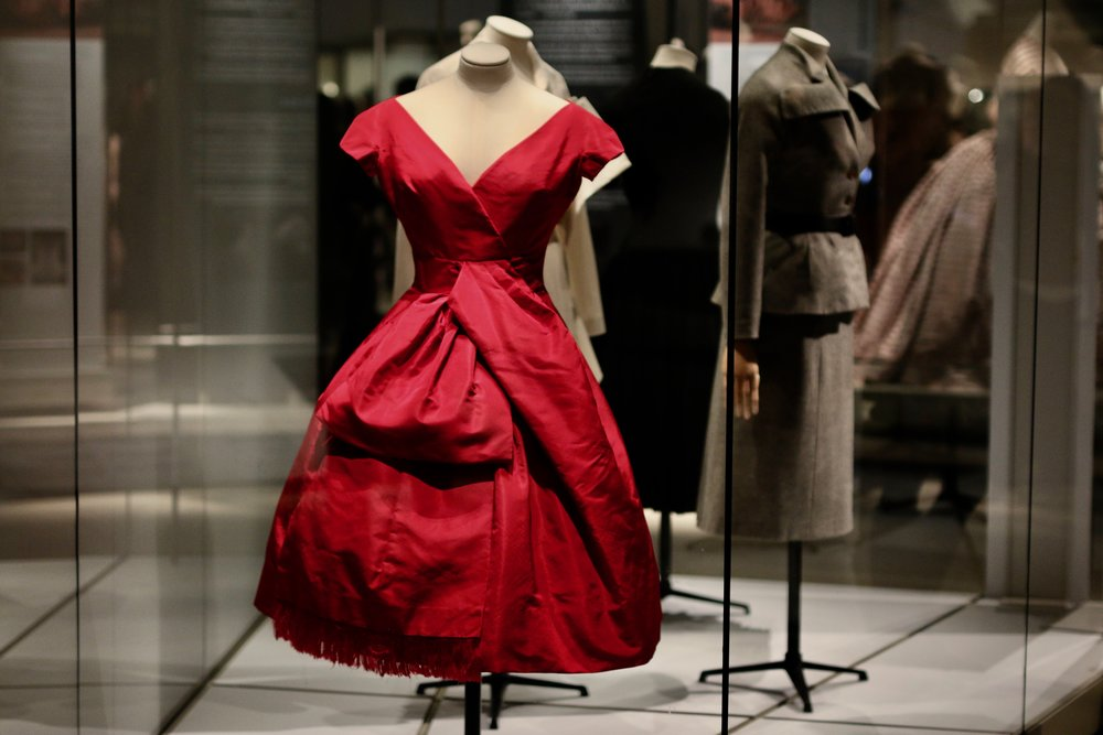 "Dior's ""Delphine"" cocktail dress (1956)."