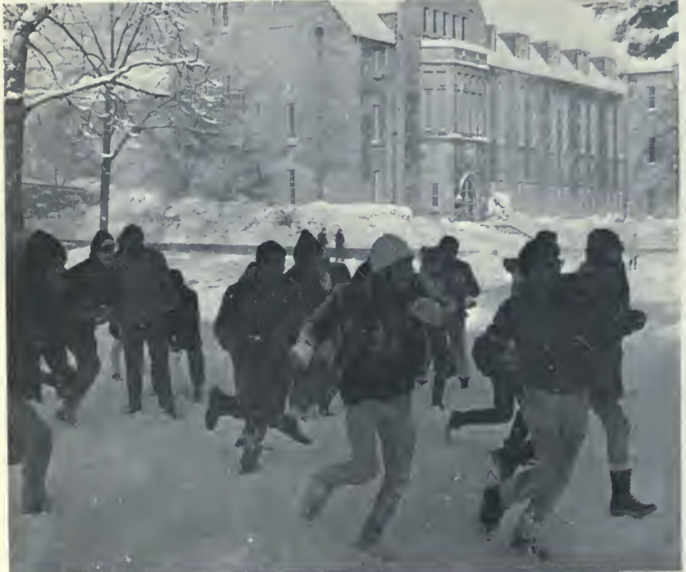 Snowball Fight in the Quad!   1967-1968 USMC Keystone-found on page 52