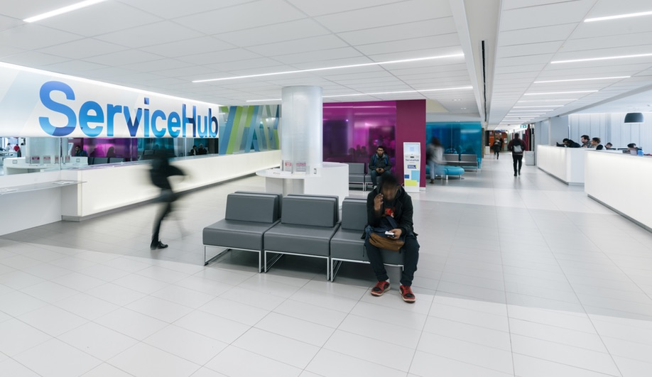 Ryerson's revitalized ServiceHub, by Gow Hastings  (Tom Arban).