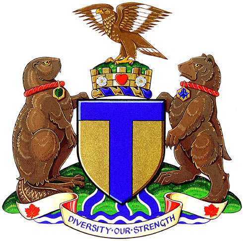 Toronto's coat of arms since 1998  (City of Toronto).