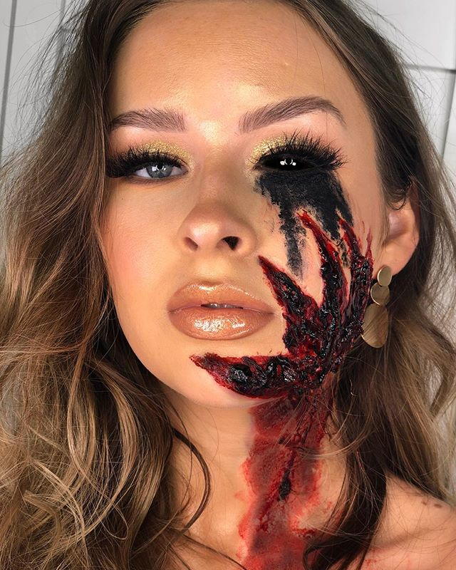 Happy Halloween 👹 Or not so happy... I hate posting a look that didn't turn out the way I wanted after the last one being exactly what I wanted... it just feels like a job not so well done 👀 This one was suppose to be an angel touched by the devil, and I thought about not posting it but it's only Halloween once a year so I'm going with it 😂 Hope everyone has the best night and stays safe 👀💥🖤