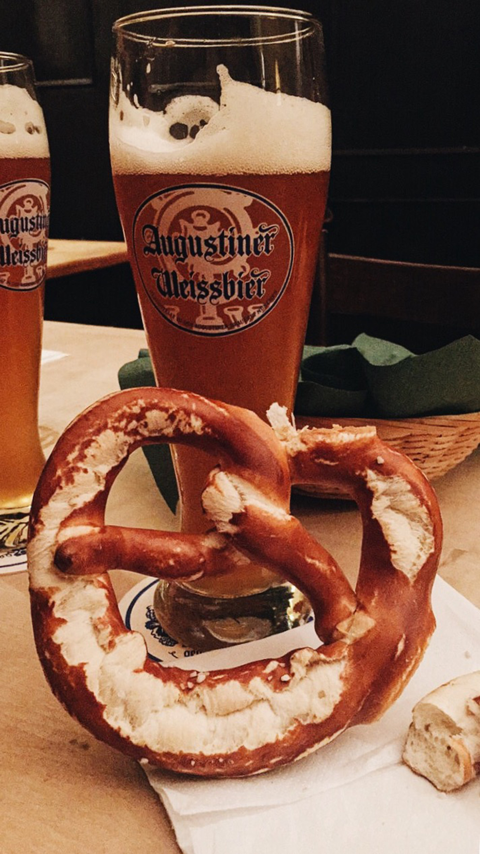 In America we have table bread, in Germany they have table pretzels!