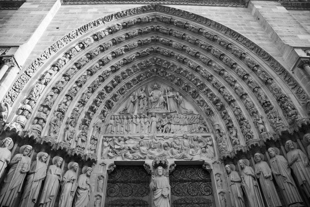 Tympanum at Notre-Dame de Paris