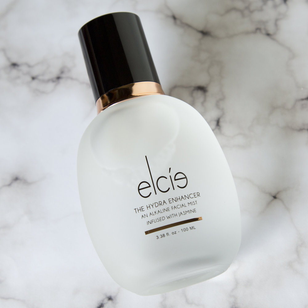 Elcie The Hydra Enhancer   Can we talk about this packaging for a minute? This is a face mist and it comes in the most stunning frosted glass bottle. It's not just all pretty packaging though, the product is actually amazing . I haven't tried a ton of setting sprays but out of the ones I have this is by far my favorite. It smells amazing, jasmine is the only floral scent that I like, and it makes the skin silky smooth thanks to the ingredient glycerin. It is pretty expensive for what it is, $35, but I will definitely be repurchasing because I am hooked. I just missed out on their Fourth of July sale where they had 20% off but I'll be keeping an eye out for discounts to help with the price tag.If I run out before they have another promotion then I might reuse this bottle with a different mist because the bottle is too beautiful to throw away and the spray on the mister is pretty good. I would definitely recommend this even though it is a bit expensive because it's seriously so good.