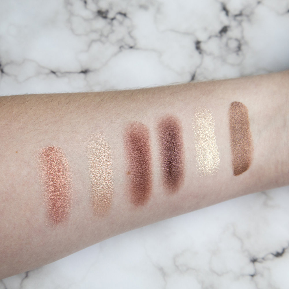 L-R; Ciaté Precious Metals in Ocean Drive, Charlotte Tilbury The Vintage Vamp Luxury Palette (Prime, Enhance, Smoke, Pop), and Charlotte Tilbury Eyes to Mesmerise in Mona Lisa