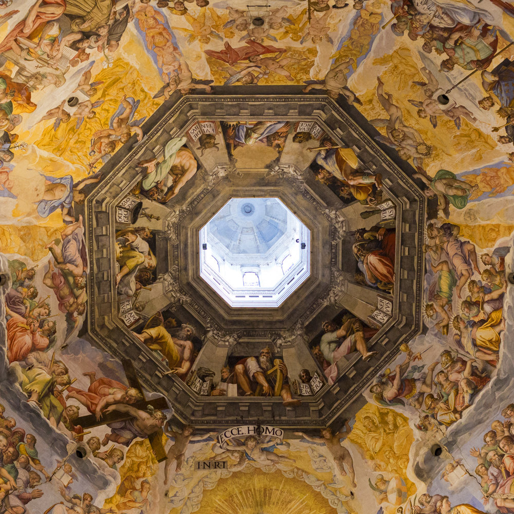 Inside the dome of the Cattedrale di Santa Maria del Fiore
