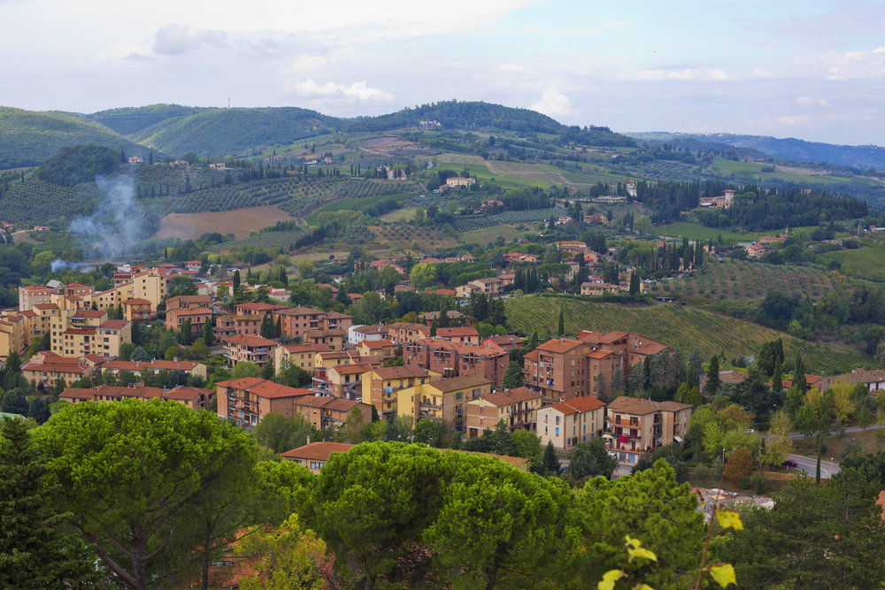 View from San Gimignano