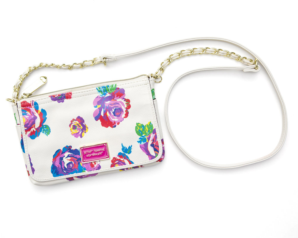 Betsy Johnson Floral Crossbody Bag