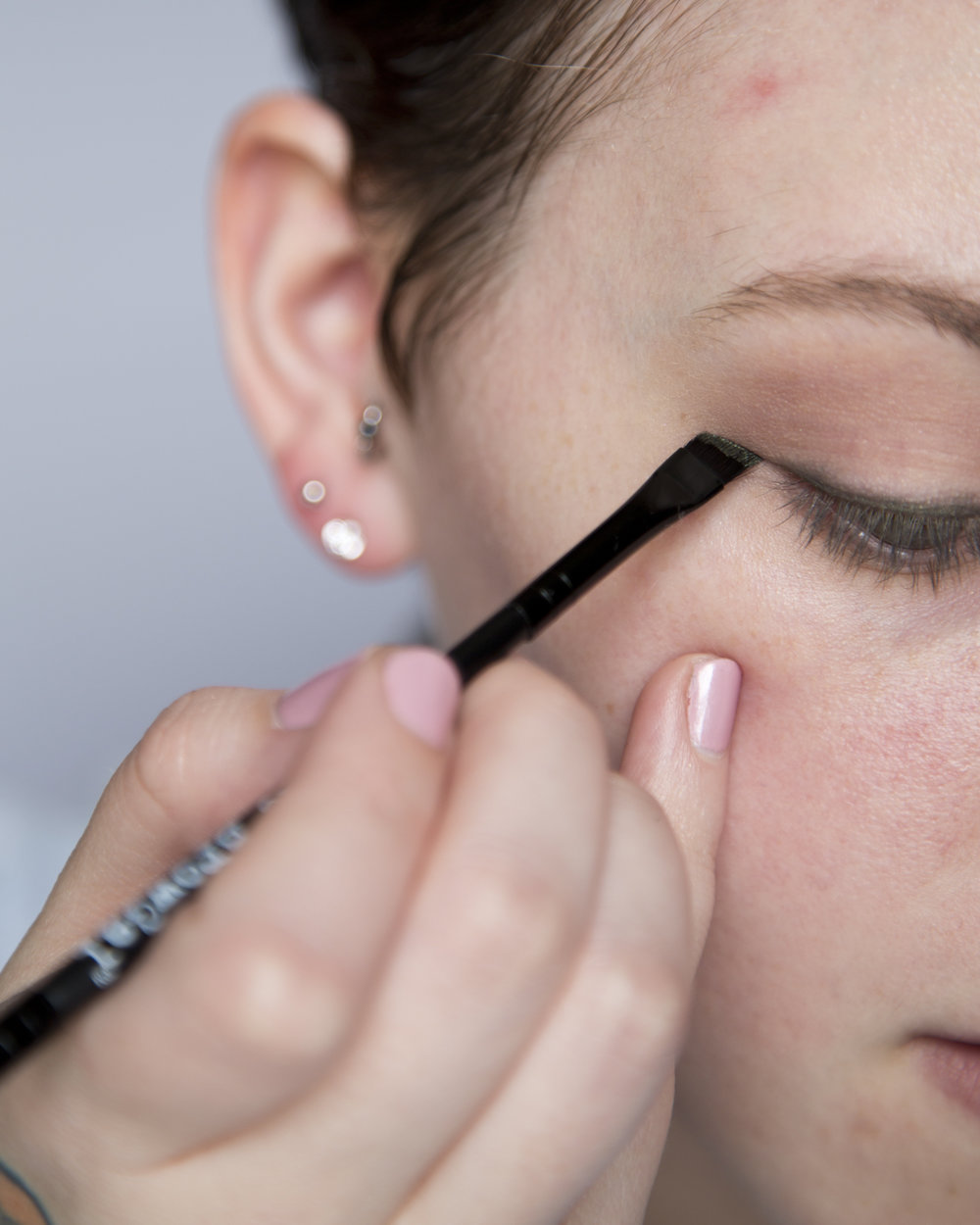 To create the wing I just ran the brush over the eyeliner - great way to create a wing or get more precision out of pencil eyeliners.