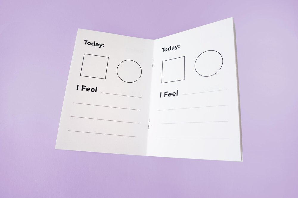 Although children can digitally discover colour, it was decided that an analog component would be beneficial for children to write and reflect on behaviour and emotion. A colour key is included but children are encouraged to create their own as they see fit.