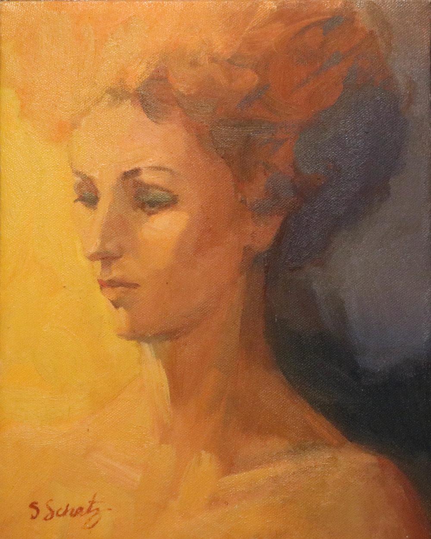 Portrait  - Oil on canvas 8x6