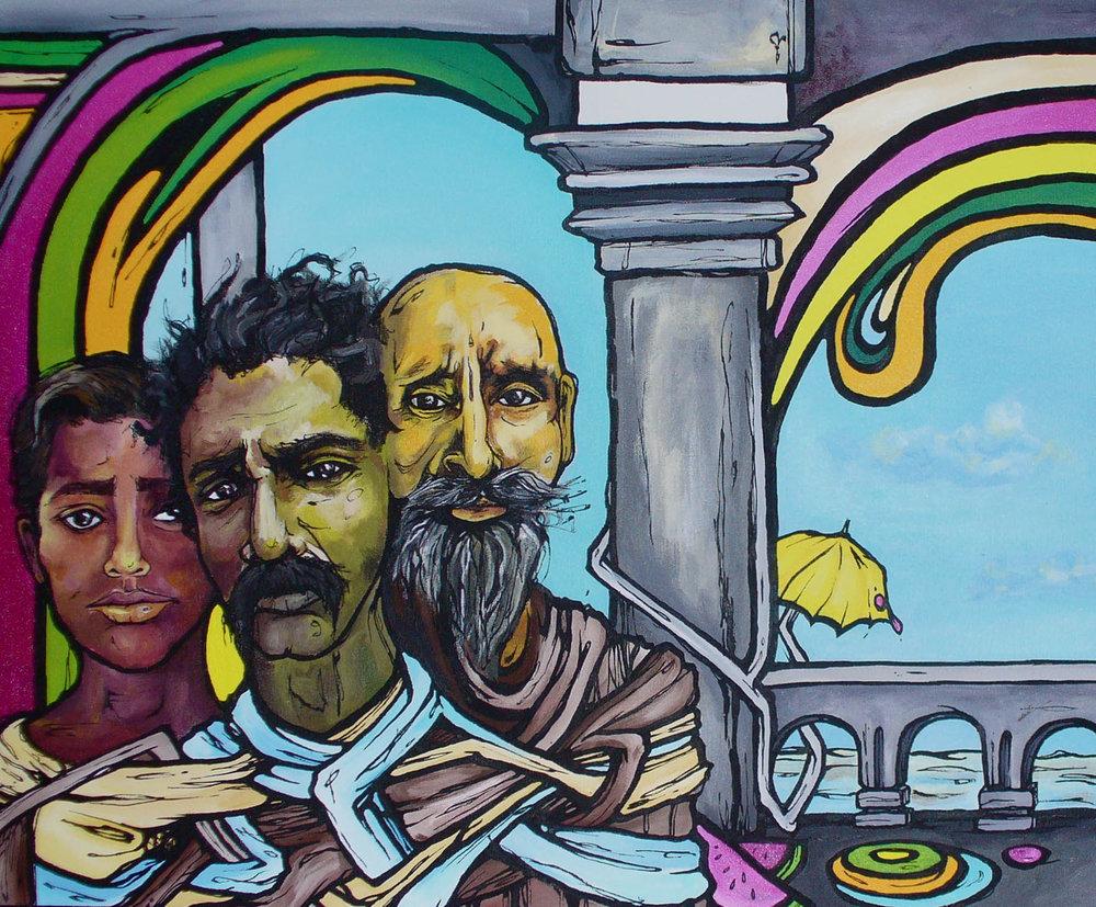 Three  - Acrylic on Canvas 18x24