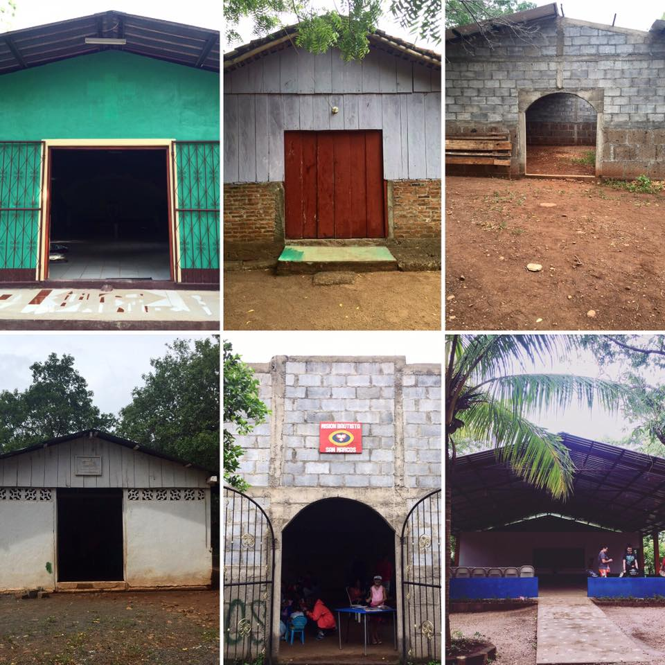 Here are some of the churches I've worked with in Nicaragua.