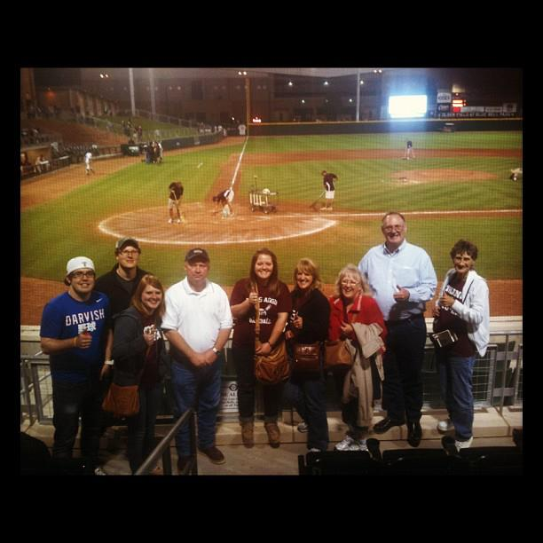 This is my family after I sang the national anthem. I'm the one in the middle. Excuse the outdated instagram filter!