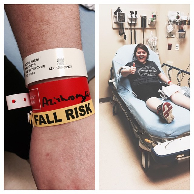 This is before I knew that I tore my ACL. And personally, I may still be a fall risk.