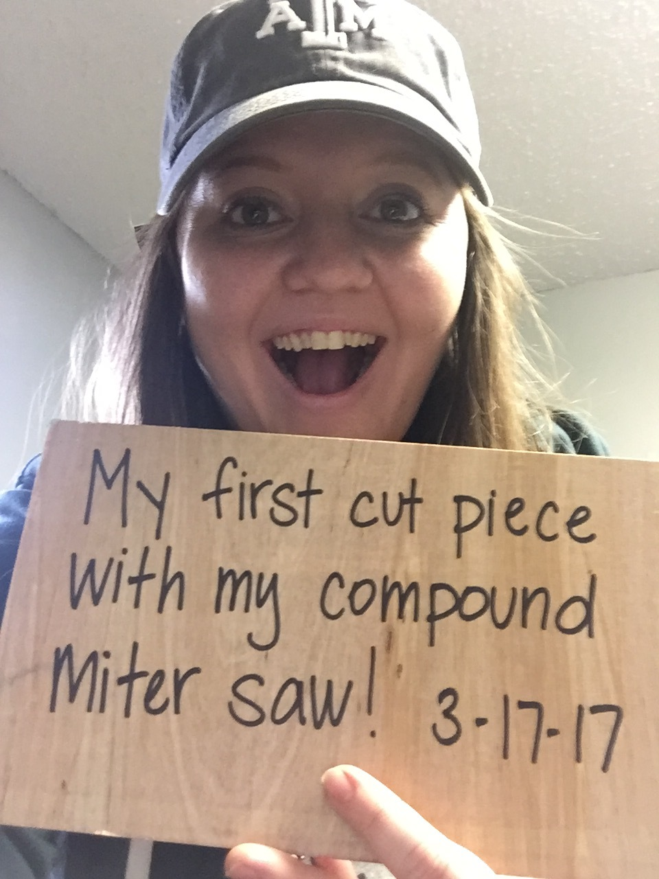 This photo is from about a month ago after I just received a miter saw for a gift. I was legit excited.