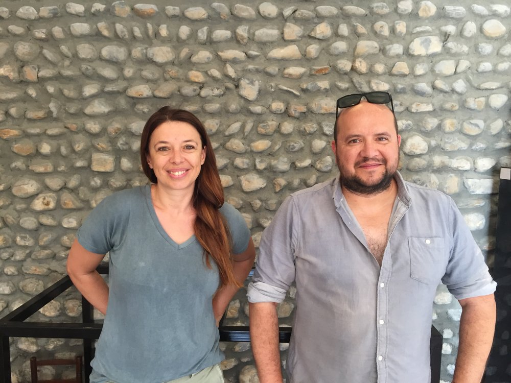 Réjane (left) and Wilfried (right), the brother/sister wine duo!